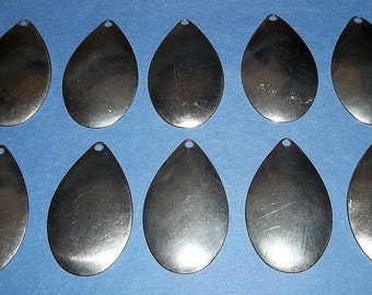 """10 #7 Smooth Nickel Indiana Spinner Bait Blades - Fishing - Bass Fishing - Crafts - """"NEW"""""""