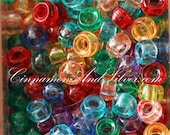 40 Pack Multicolored Variety Jewel Tone Plastic Small Pony Barrel Beads for Jewelry Crafts, 5mm by The Beadery