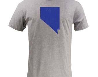 Distressed Nevada State Shape - Sport Grey