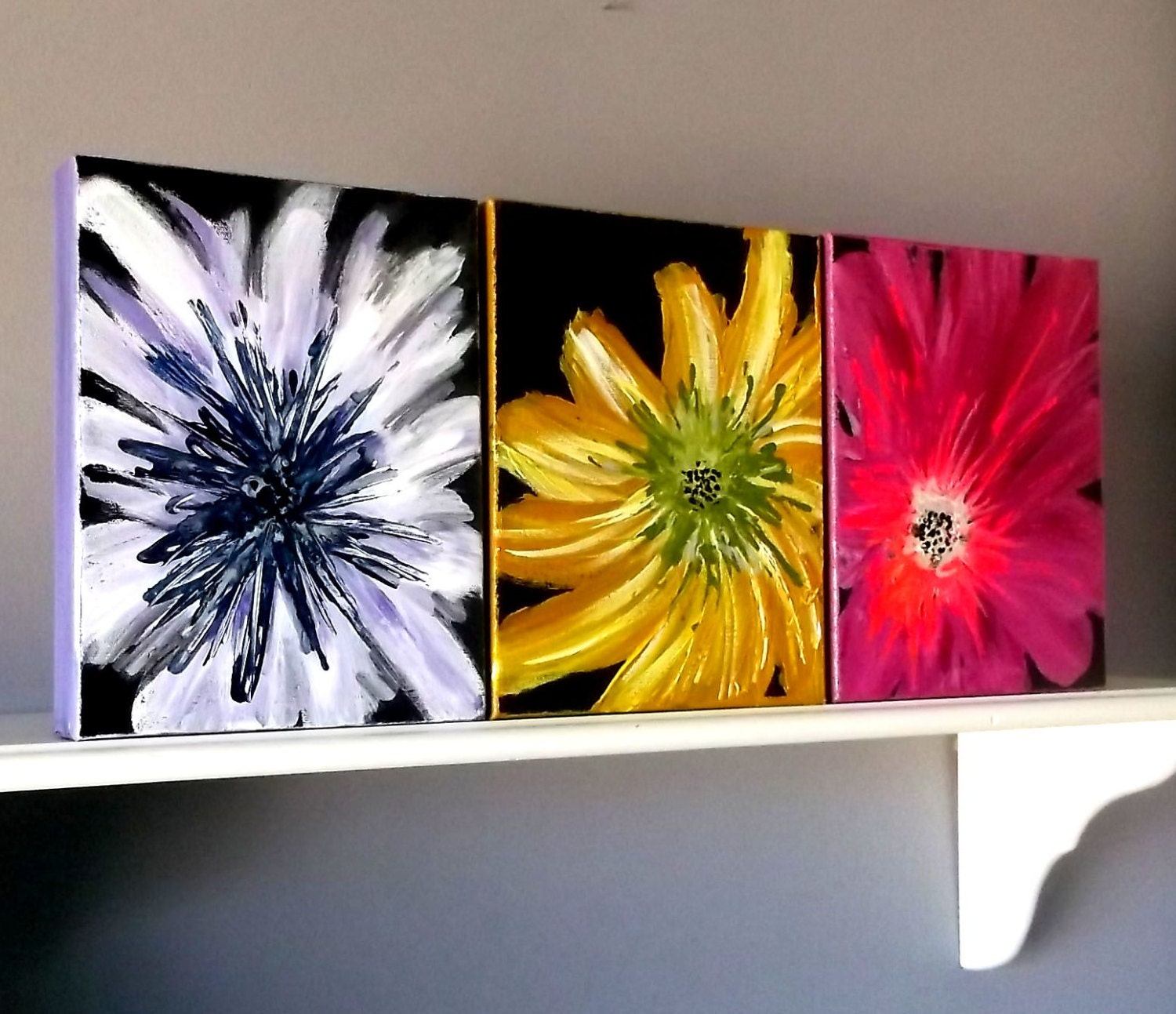 Wall art flower painting -  Zoom