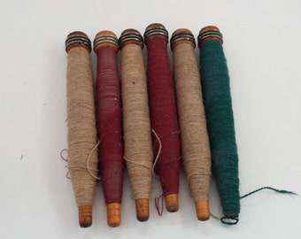Wrapped Wooden Bobbins