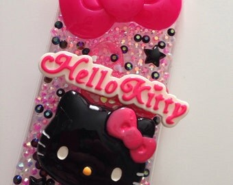 iPhone 5c Cute Kitty Bling Decoden Case