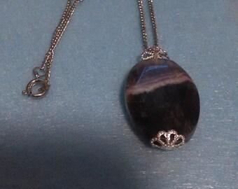 Amethyst necklace, February birthstone