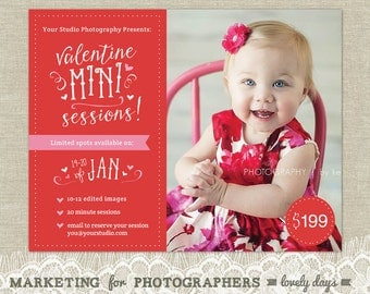Photography Valentines Day Mini Session Marketing Flyer INSTANT DOWNLOAD