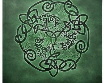 Celtic Hare Tarot or Altar Cloth -  Pagan Wiccan - Brigid Ashwood