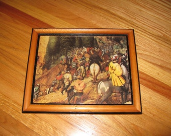 """THE CONVERSION Of St. PAUL Print In Wood Frame With Black Border Outside And Inside 9 1/2"""" x 11 1/2"""""""