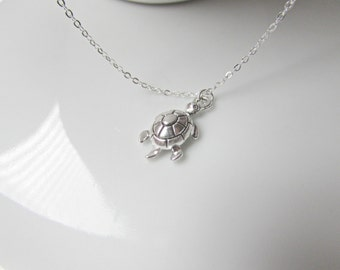 Silver Tortoise Necklace, Tortoise Necklace, Turtle Necklace, Reptile Necklace, Gifts for Girls, Bridesmaid Gifts, British Seller UK, BFF