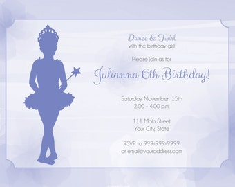 Ballerina Invitation