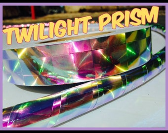 Twilight Prism Reflective Hula Hoop -  Specialty Taped Practice Hoops -  You Choose the Size