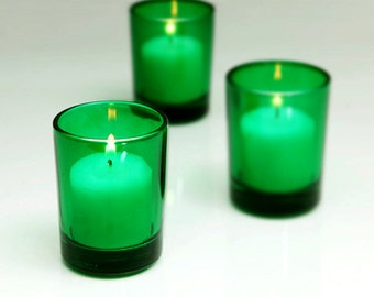 Green Votive Candle Holders (Small)