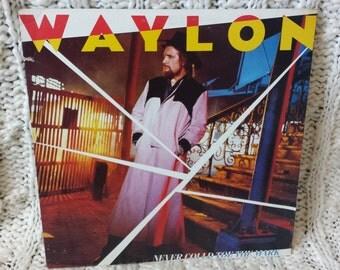 "Waylon Jennings - ""Never Could Toe The Mark"" vinyl record"