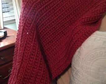Soft hand crochet blanket