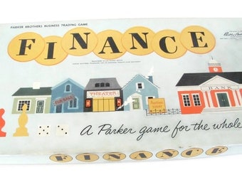 Vintage Finance Game, 1960's Finance Board Game, Parker Brothers Game, Vintage Board Game