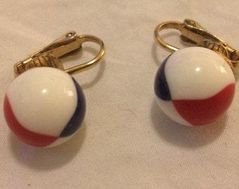 Patriotic Vintage Clip-on Earrings