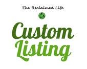 Custom Listing for Tetera