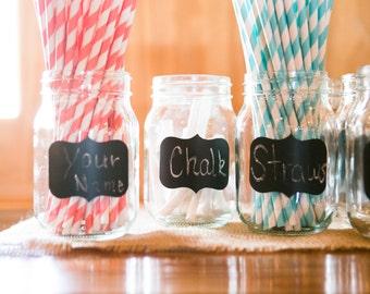 50 Mason Jar Chalkboard Labels