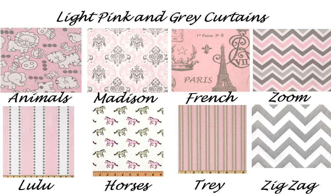 Light pink curtainspink and grey curtains valance custom for Light pink and gray curtains
