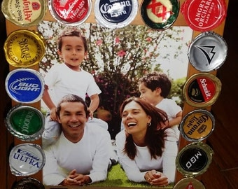 Beer Bottle Cap 5x7 Picture Frame
