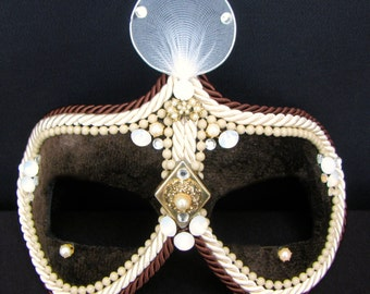 Steampunk Masquerade Mask, Victorian Mask, Marie Antoinette - Madame Bovary