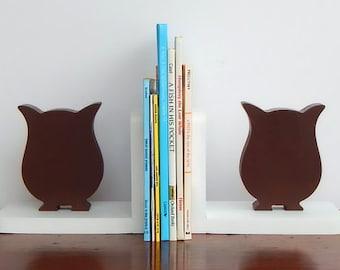 Handmade Owl Bookends - Children, Nursery Animal Bookends