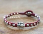 Elephant Bracelets, Macrame Bracelet, New Design, Birthday Gift Idea, Handmade Bracelets, Beaded Bracelets - Red