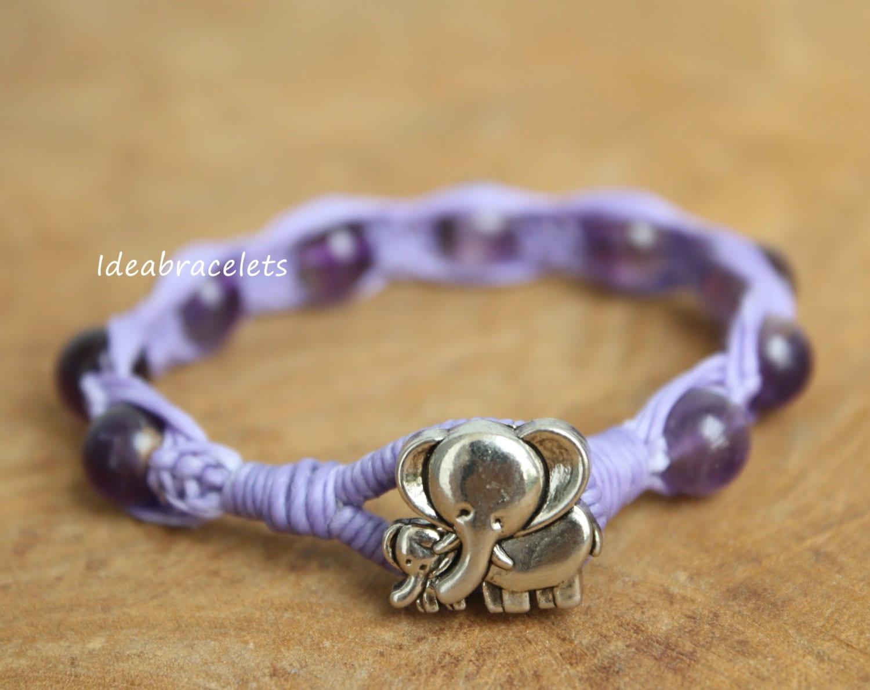 elephant bracelet amethyst bracelets birthday gift gemstone