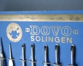 Vintage DOVO Grooming Tools / Circa 1940s / Exclusive Peter J. Michels Edition / Made in Solingen Germany / New Old Stock / Complete Card