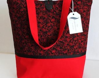 Large Tote Bag,Knitting Bag Beach Bag, Diaper Bag