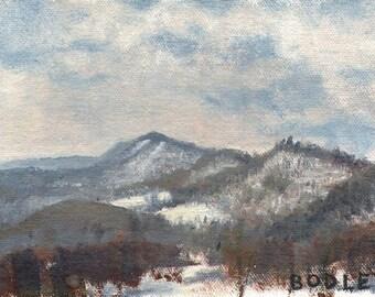 "Original Oil Landscape Painting, Rattlesnake Hills, Oil on 5x7"" canvas panel, by Sean Bodley"