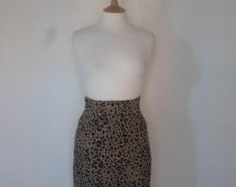 Leopard maxi skirt