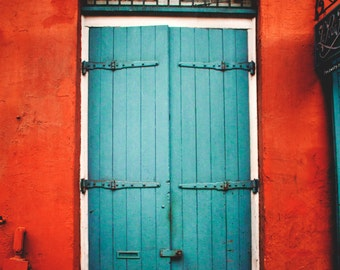 New Orleans, Door, Wall Art, Travel Photography, Urban, Rustic