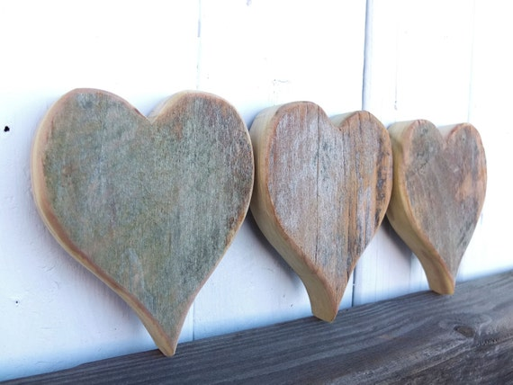 Barn wood heart cutouts barn wood craft wood by for Wooden hearts for crafts