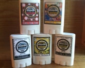 Pick FOUR- Travel Size Natural Deodorant - / Really Works / Aluminum paraben FREE / Made with Organic Oils - Choose your Scent