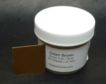 Green Brown Powder Paint