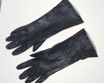 Helene Dale Chevreau De Crencele Saranti 6/2 Small Ladies Black Evening Gloves 11""