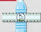 Boy Golf Party Water Bottle Label - Golf Birthday Party - Weatherproof Water Bottle Labels - Digital or Handcrafted - FREE SHIPPING