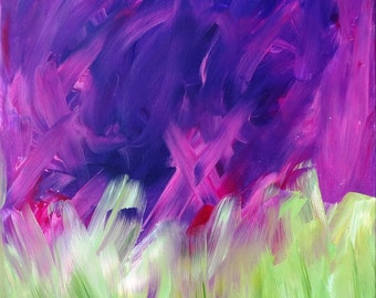 Original Acrylic Floral Abstract Painting- 16 X 20