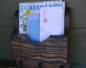 Mail Organizer - Letter Holder - Key Rack - Organizer - wood - Single 3 hook