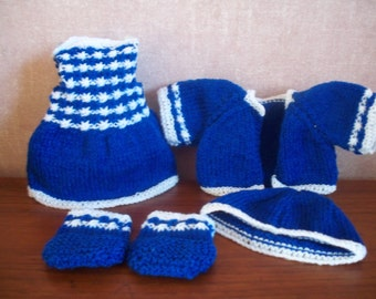 A Doll's Outfit Hand Knitted