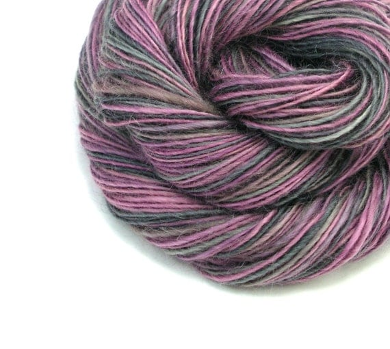 Worsted Weight Yarn : Worsted Weight Yarn, Handspun Yarn, Purple Yarn, Mauve Yarn, Gray Yarn ...