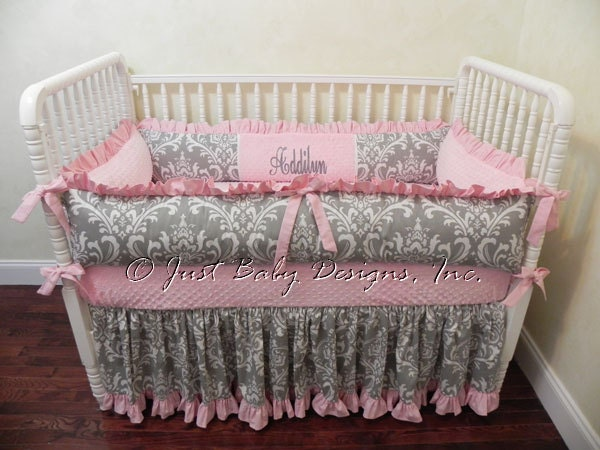 Baby Girl Crib Bedding Set Addilyn Girl Baby Bedding Pink