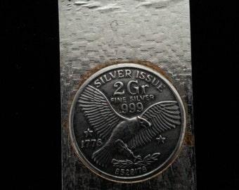 Bicentennial Commemorative .999 Silver Eagle Coin Money Clip