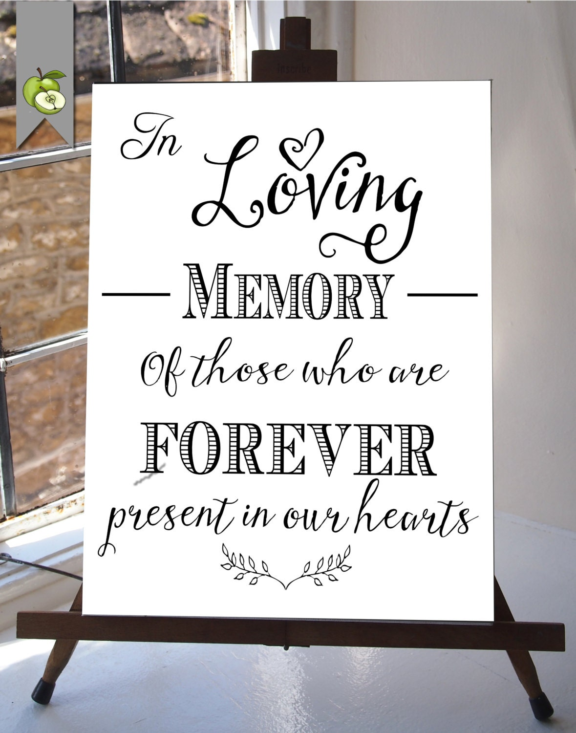 In loving memory wedding sign memorial table 8x10 and for In loving memory wedding sign