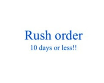 RUSH ORDER 10 days or less!!!
