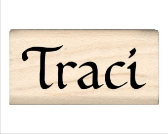 Name Rubber Stamp for Kids  - Traci