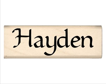 Name Rubber Stamp for Kids  - Hayden