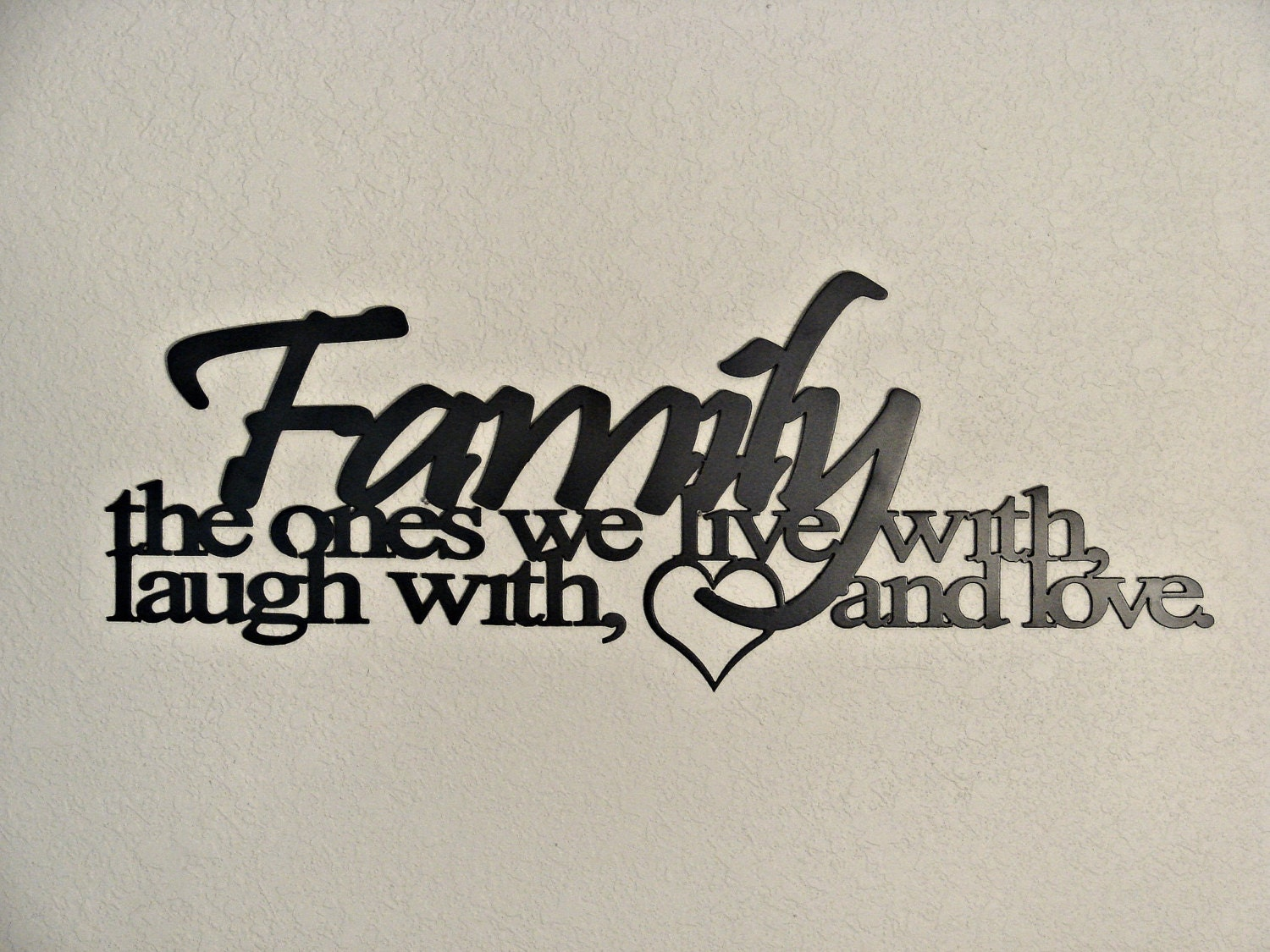 Word Art For Walls family ties cnc plasma metal word art wall hanging