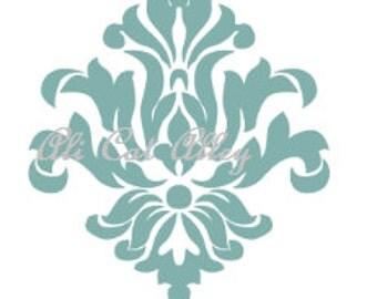 Damask Vinyl Decal! Demask for furniture! Demask home decoration! Vinyl Damask! Damask in any color! Demask Pattern! Fleur De Lis Pattern!