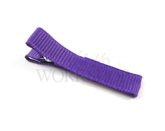 Purple - Set of 5 Fully Lined 45mm Single Prong Alligator Clips - FLC-007