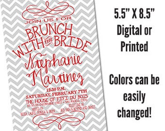 Handmade bridesmaid luncheon invitations Etsy